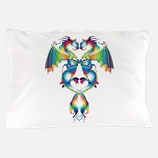 Rainbow Love Dragons Pillow Case