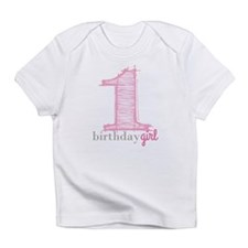 First Modern Birthday Pink Infant T-Shirt