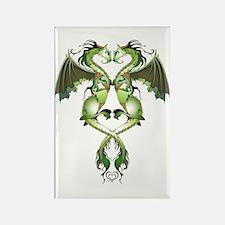 Earthen Love Dragons Rectangle Magnet