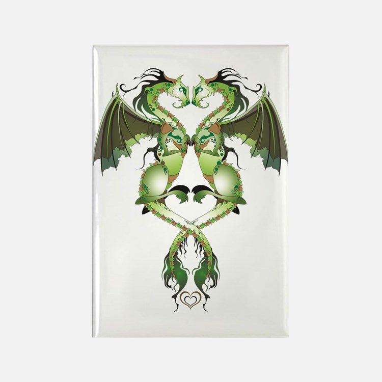 Earthen Love Dragons Rectangle Magnet