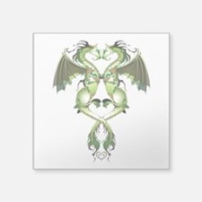 "Earthen Love Dragons Square Sticker 3"" x 3"""