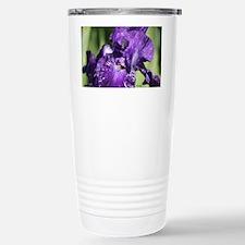 Purple White Bearded Ir Travel Mug