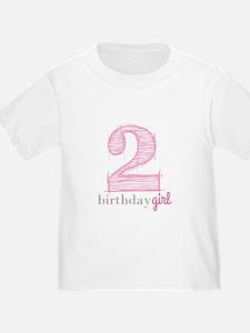 Second Modern Birthday Pink T-Shirt