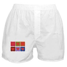 Country Patchwork Hearts Boxer Shorts