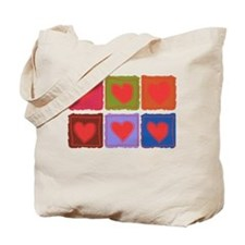 Country Patchwork Hearts Tote Bag