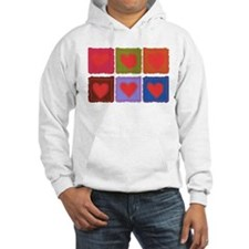 Country Patchwork Hearts Jumper Hoody