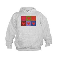 Country Patchwork Hearts Hoody