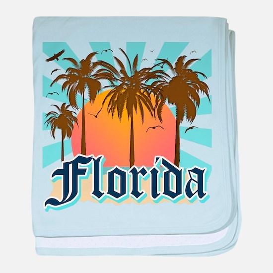 Florida The Sunshine State baby blanket