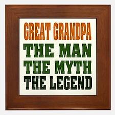Great Grandpa - The Legend Framed Tile