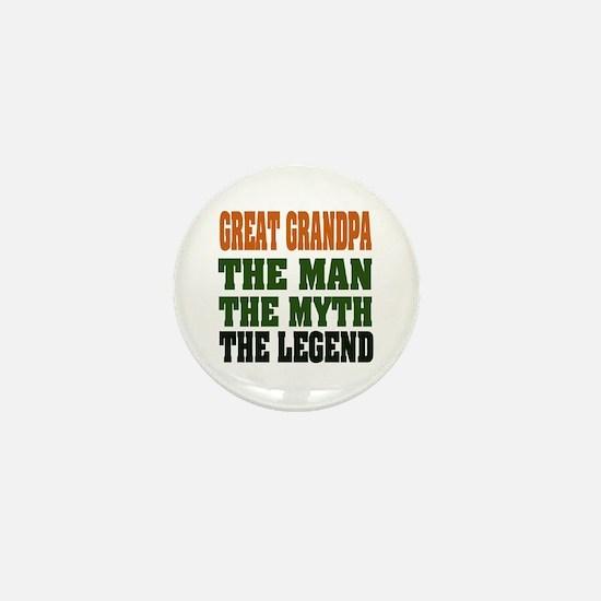 Great Grandpa - The Legend Mini Button