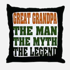 Great Grandpa - The Legend Throw Pillow