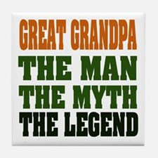 Great Grandpa - The Legend Tile Coaster