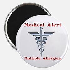 Multiple Allergies Medical Alert Asclepius Magnets