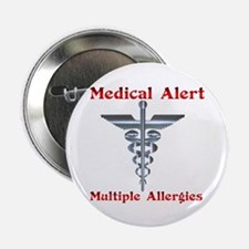 """Multiple Allergies Medical 2.25"""" Button (10 pack)"""