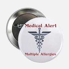 "Multiple Allergies Medical Alert Ascl 2.25"" Button"
