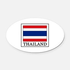 Thailand Oval Car Magnet