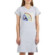 Hawk painting Women's Nightshirt