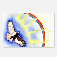 Hawk painting Postcards (Package of 8)