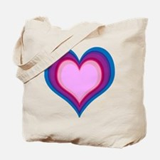 By The Bi Heart #1 Tote Bag