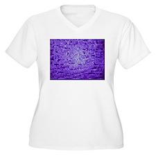 Purple mauve color stained glass Plus Size T-Shirt