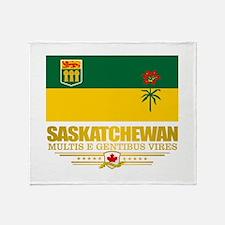 Saskatchewan Flag Throw Blanket