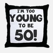 50th Birthday Humor Throw Pillow