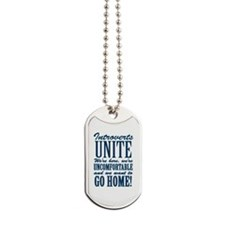 Introverted Introverts Dog Tags