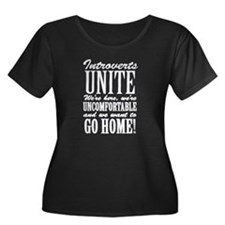 Introverted Introverts Plus Size T-Shirt