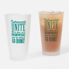 Introverted Introverts Drinking Glass