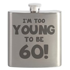 60th Birthday Humor Flask