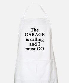 The Garage Is Calling I Must Go Apron