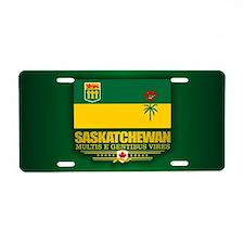 Saskatchewan Flag Aluminum License Plate
