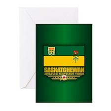 Saskatchewan Flag Greeting Cards