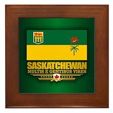 Saskatchewan Flag Framed Tile