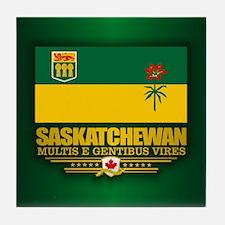 Saskatchewan Flag Tile Coaster