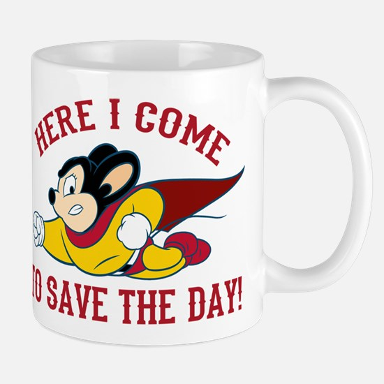 Here I Come To Save The Day Mugs