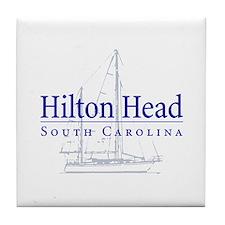Hilton Head Sailboat - Tile Coaster