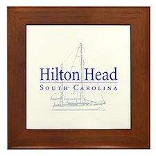 Hilton Head Sailboat - Framed Tile