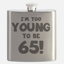 65th Birthday Humor Flask