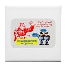 Funny Bowl Tile Coaster