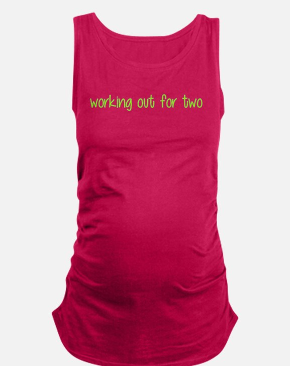 Cute Health fitness exercise athletic athlete Maternity Tank Top