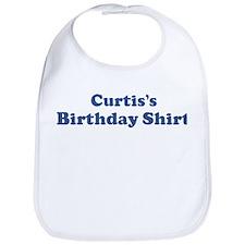 Curtis birthday shirt Bib