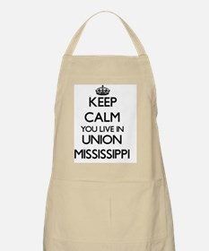 Keep calm you live in Union Mississippi Apron