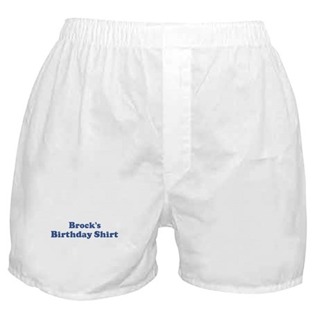 Brock birthday shirt Boxer Shorts