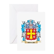 Scullie Coat of Arms - Family Crest Greeting Cards
