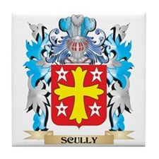 Scully Coat of Arms - Family Crest Tile Coaster