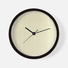 Faux Gold Polka Dots Wall Clock