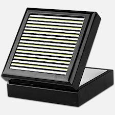 Unique Black and yellow striped Keepsake Box