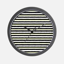 Unique Black and yellow striped Wall Clock