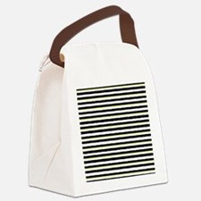 Cute Black and yellow striped Canvas Lunch Bag